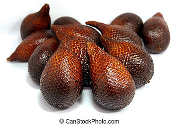 Exotic tropical fruits called salak from south east asia