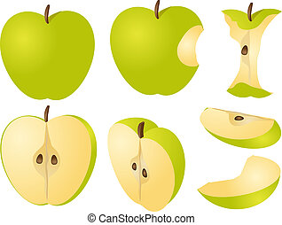 Apple illustration - Isometric 3d illustrtion of apples,...