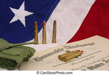 Honorable Discharge Certificate With Bullets and Plastic...