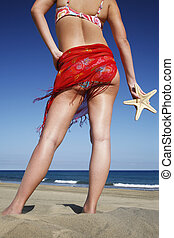 Beach Woman with Starfish