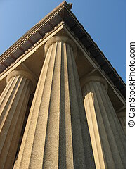 Corner of the Parthenon in Nashville Tennessee