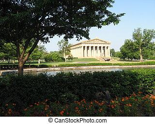 Under Tree - Parthenon in Nashville Tennessee under a tree