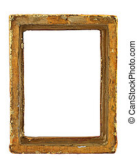 ruined hollow frame - old ruined hollow frame isolated on...