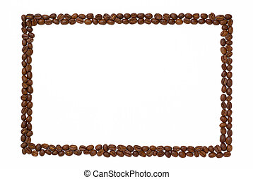 Rectangle coffee frame. - Rectangle frame made of coffee...