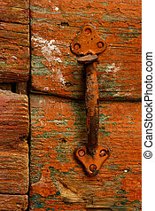 Door handle - Image shows a rusty handle on a highly...