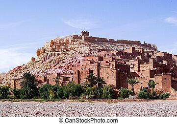 Ait Ben Haddou kasbah - Landscape image of Ait Ben Haddou...