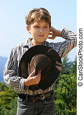 Country farm boy - Outback rural boy in magnificent high...