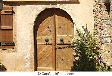 Brown Door - Doors to a Venetian house on the island of...