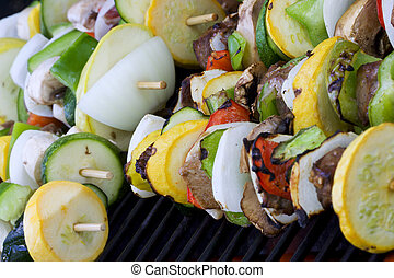 kabobs - Beef shish ka bobs on the grill summer time is here...