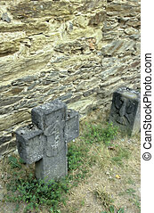 Tombstones- Rhine valley, Germany - Tombstones in the 13th...