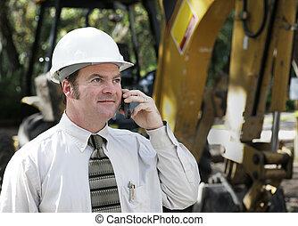Engineer on Phone