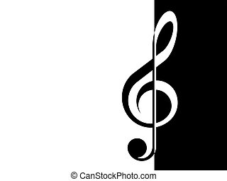 treble clef - graphics, illustration, picture, handmade,...