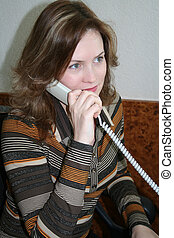 businesslady - woman telephone