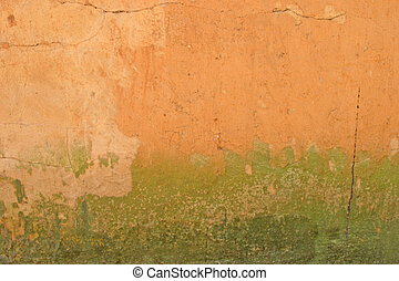 Grunge Background - Grunge background orange to green...