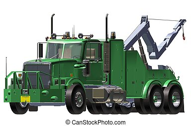 breakdown truck - green breakdown truck white background