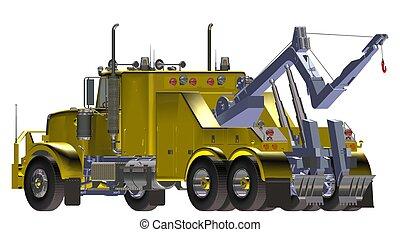 breakdown truck - yellow breakdown truck
