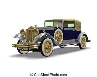 vintage auto - 3D vintage automobile white background
