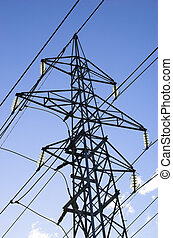 Power Mast - A complete power mast with six fixtures and...