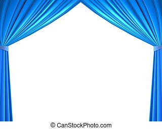 curtains background isolated