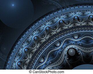 Intricate 3D pattern - Abstract fractal background Computer...