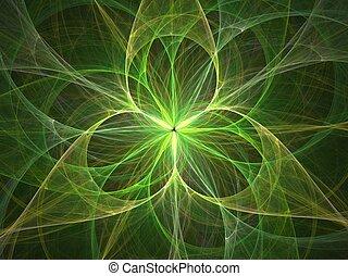 3D flower light abstract