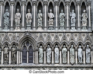 Nidaros cathedral in Trondheim - Famous Trondheim cathedral...