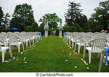 Wedding setup - Outdoor Wedding setup on a sunny day