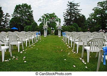 Wedding setup - Outdoor Wedding setup on a sunny day