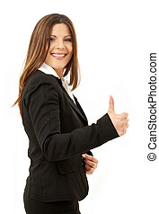 happy successful businesswoman - picture of happy successful...