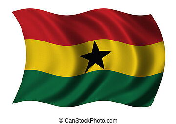 Flag of Ghana waving in the wind