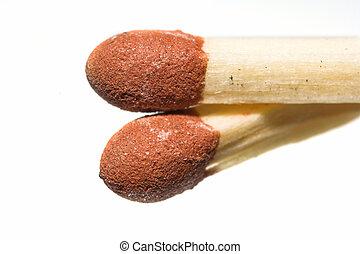 Matchsticks - A macro photo of typical Danish matchsticks