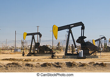 Oil Field II - Oil field in California\\\'s Central Valley.