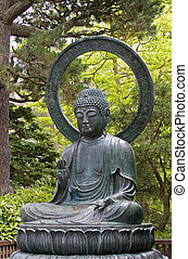 Buddha - A Japanese statue of the Seated Buddha