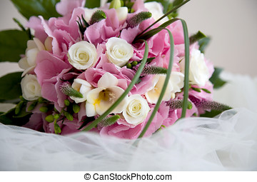 Wedding flowers - Lovely pink and white wedding bouquet...