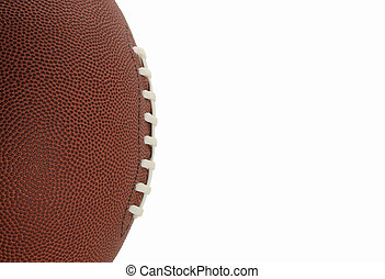 Football Closeup Isolated on White Background