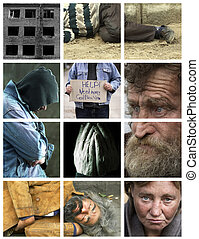 homeless - special photo toned f/x and grid, made form my...