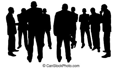 businessmen - isolated, made from my photos, see relese
