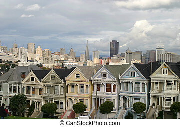 Victorian Houses  - Alamo Square, San Francisco, California