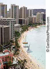 Waikiki beach in Hawaii - Luxury hotels in Hawaii