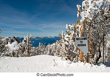 Lake Tahoe Welcome to Nevada Sign - more like this in my...