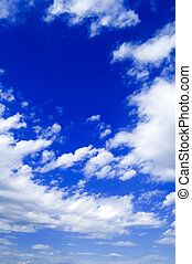 The sky - The blue sky and white clouds