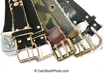 Belts - Many nice fashionable belts for young people.