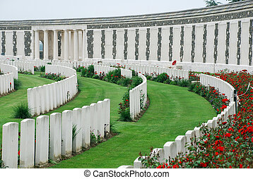 Tyne Cot brittish memorial cemetery of the first world war...