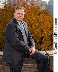 The Politician - A politician posing for photos during his...