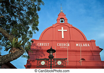 christ church of Melaka, Malaysia - first european and...
