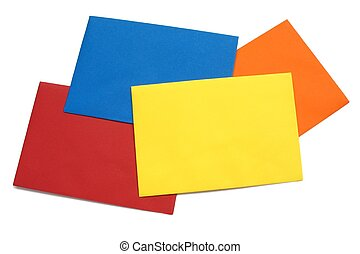 Colorful envelope - 2 - A series of four bright envelopes...