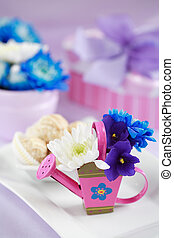 Mothers day - Present with flowers and decoration for...