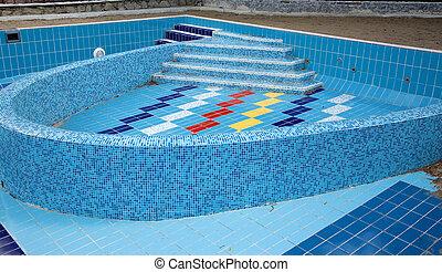 Swimming pool without water. Renovation. Sanatorium near...