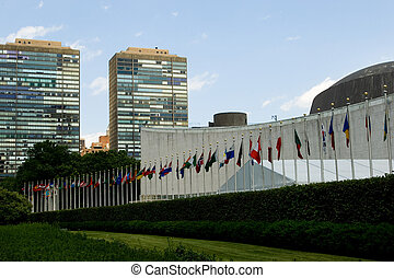 United Nations in session - UN headquarters building in New...