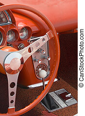 Detail of a classic car - Close up detail of a classic...